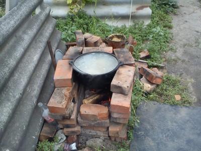 Правильная печь для казана